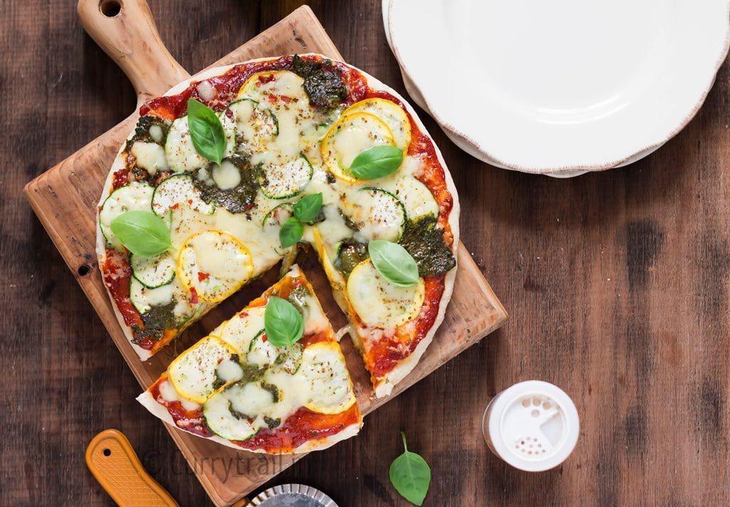 Zucchini Pizza Sliced