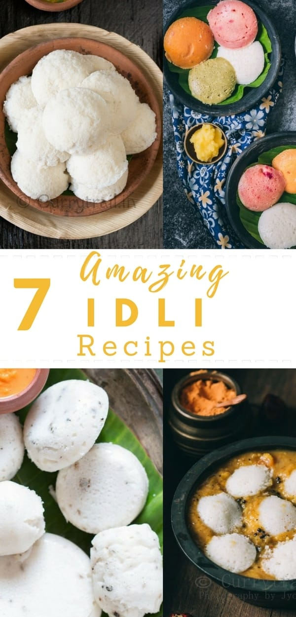 Collection of 7 amazing idli recipes are way too easy to make and delicious that you will never want to miss it out! What can be better than Idlis! It's great way to start your morning with light and healthy breakfast.