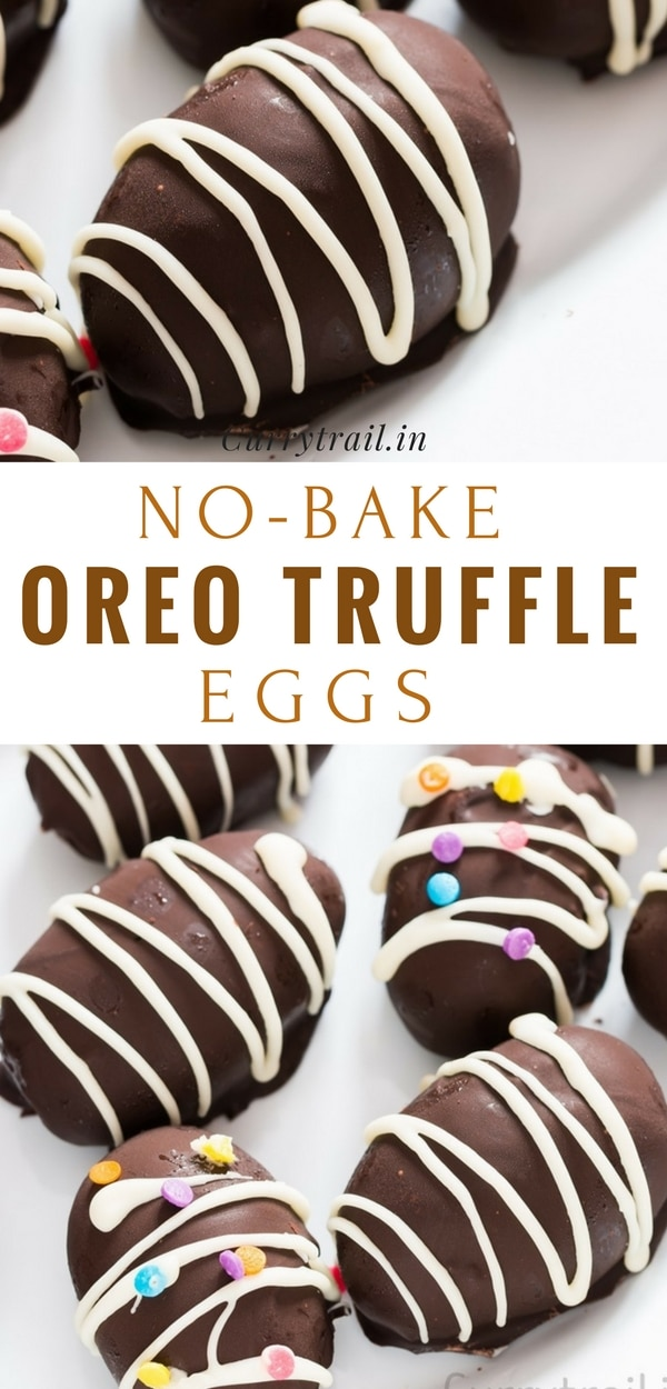 This no bake OREO truffles eggs are sinful and outrageously delicious! Utterly effort less, immensely delicious. Folks, get ready to sin. Because this truffle made with OREOs is SINFUL. There is NOTHING healthy about it, other than you are going to want to eat it every day.