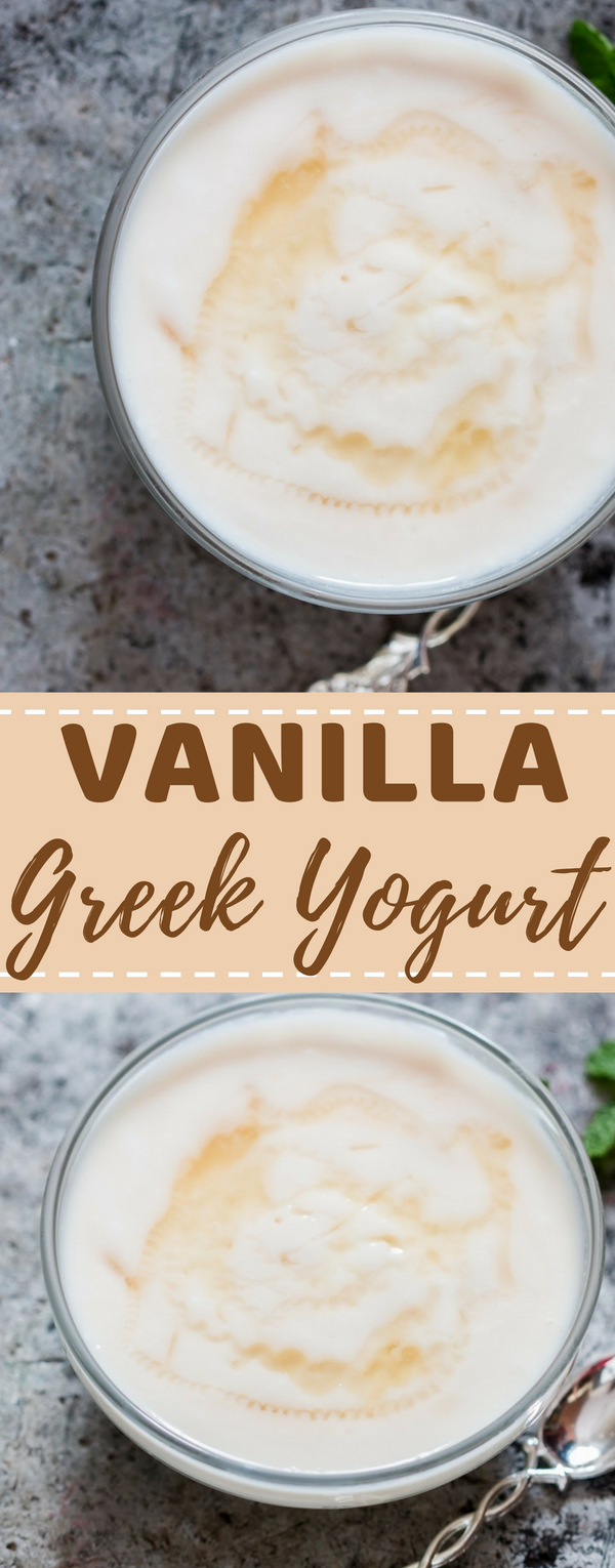 Today I bring to you 6 amazing ways to flavor plain Greek yogurt for making bland plain yogurt yummier. Fresh fruit flavors, chocolate flavoured Greek yogurt, create new flavors that works for you. This is a classic. No fuss simple plain Greek yogurt flavoured with vanilla bean and sweetened with honey (if you like)