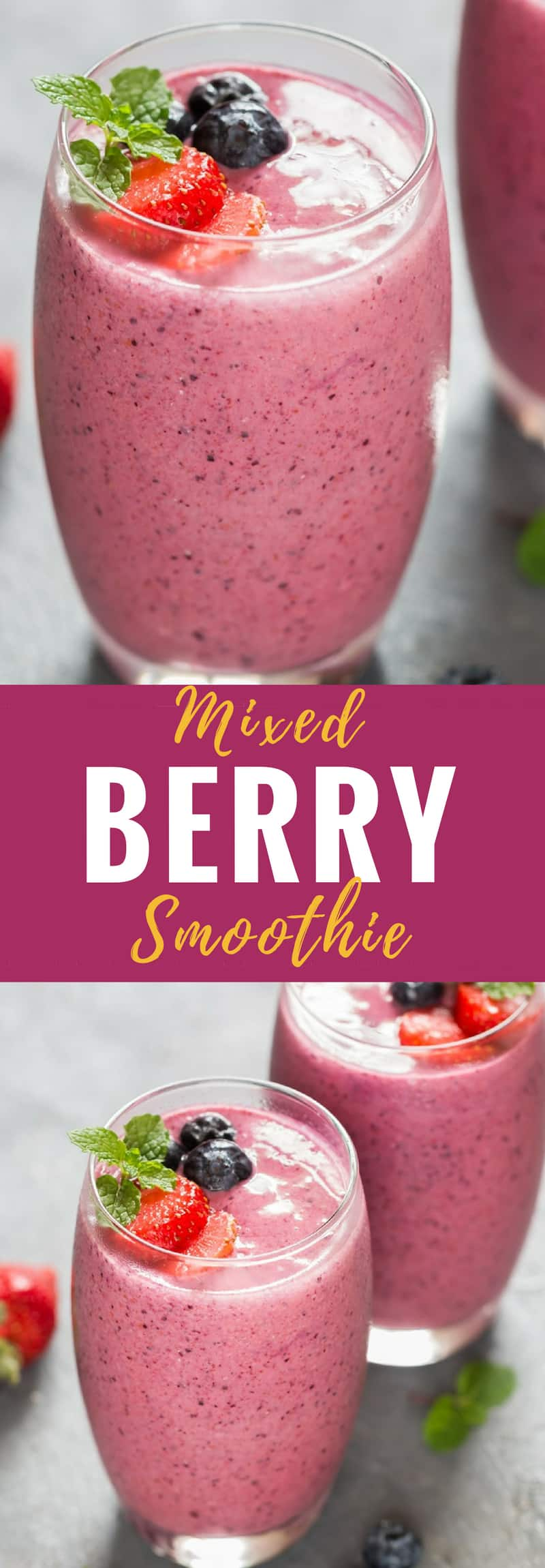 Frozen mixed berries smoothie recipe is perfect snack or meal option. Hot summer days cries out for cold smoothies to keep refreshed. What could be better than mixed berry smoothie with yogurt for a perfect start to a day? And if you are looking for genuine snack after a good workout, this is it.