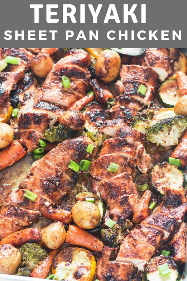 This sheet pan teriyaki chicken and vegetables is so simple and healthy, you'll forget the take-out. It's made using terrific homemade teriyaki sauce. Soo soo good!