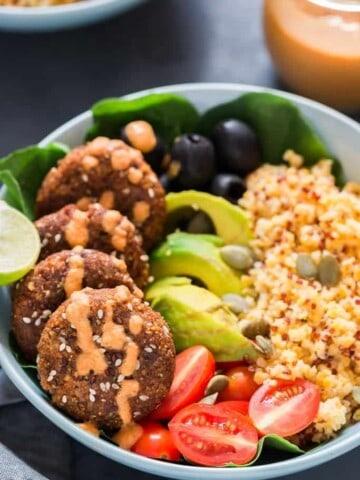 Mediterranean Vegan Buddha Bowl