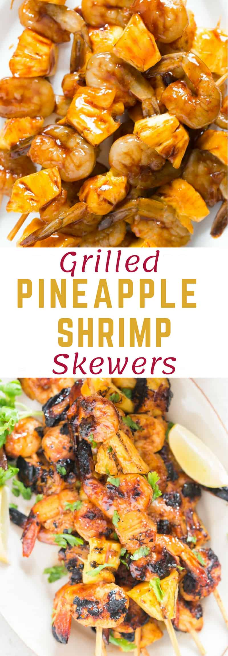 Teriyaki grilled pineapple shrimp skewers – a FAST and EASY finger food appetizer with great ASIAN flavors that can go easily on a meal prep box alongside some rice. There is a perfect shrimp skewers marinade in this recipe to jazz up the pineapple and shrimps.
