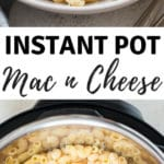 instant pot macaroni and cheese with text overlay