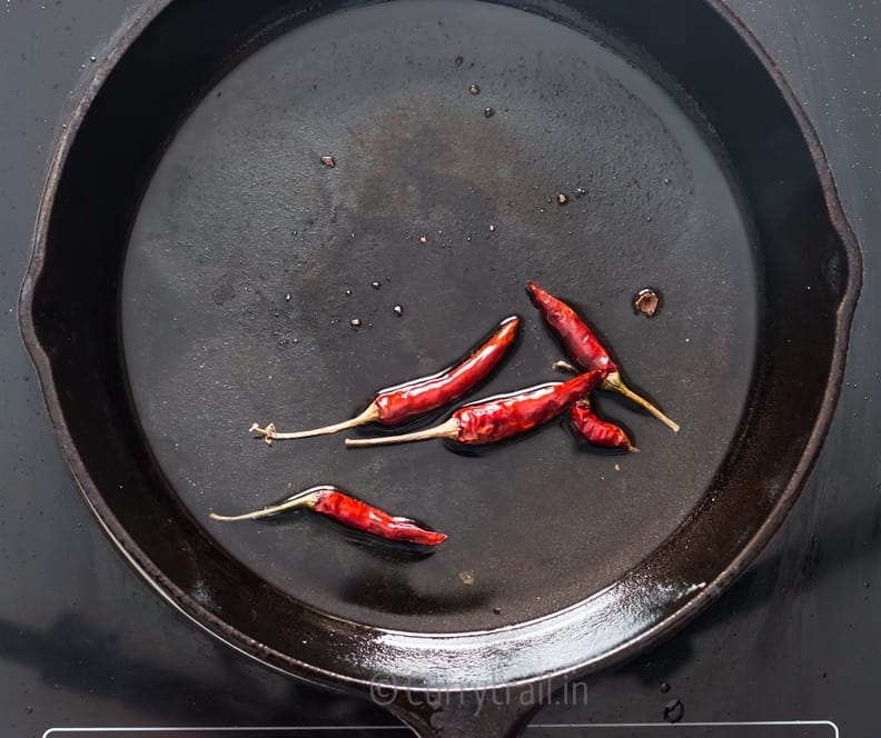 dried red chilies fried in oil for general tso's tofu
