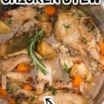 easy to make instant pot chicken stew with text overlay