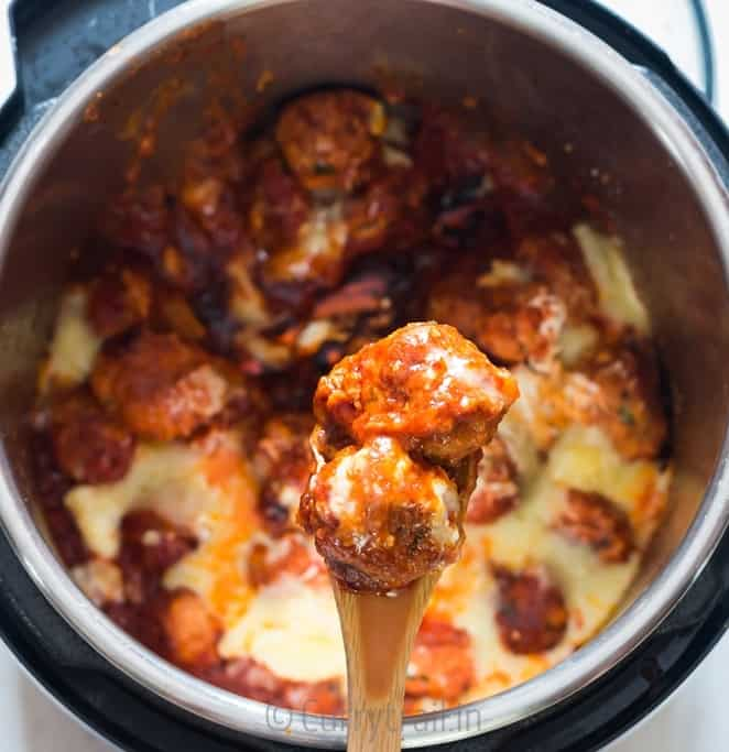 instant pot chicken Parmesan meatballs