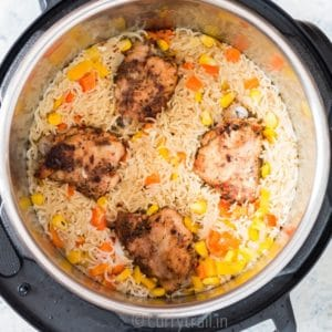 instant pot chicken and rice with cajun seasoning