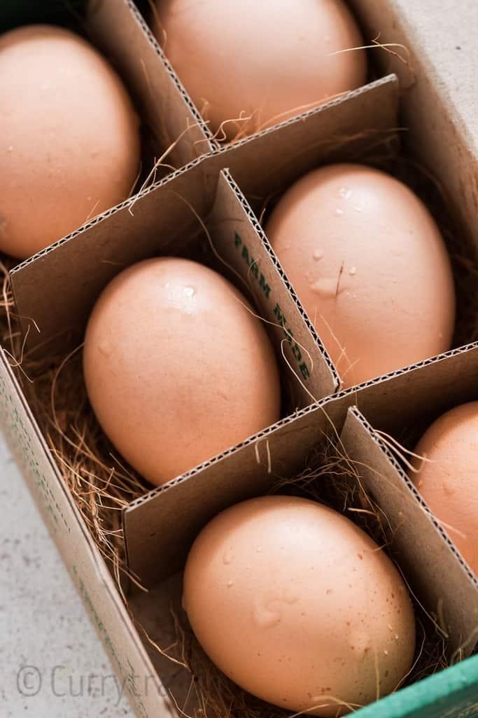 Farm fresh organic eggs for instant pot hard boiled eggs