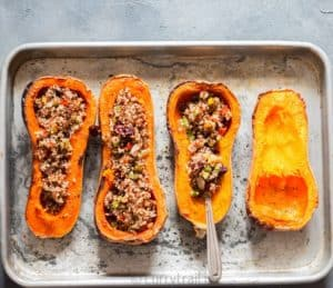 Stuffing quinoa for stuffed butternut squash