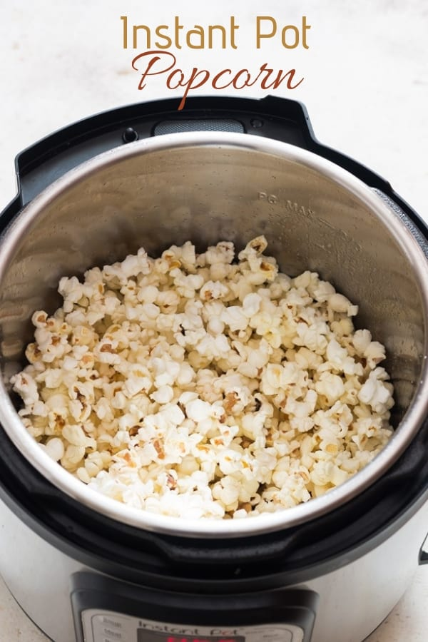 instant pot popcorn with text overlay