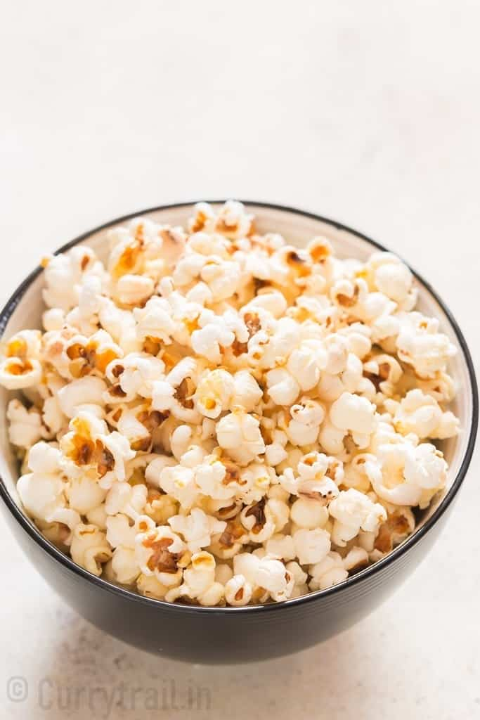 instant pot popcorn with salted flavor