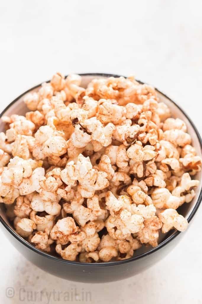 instant pot popcorn with cinnamon honey flavor