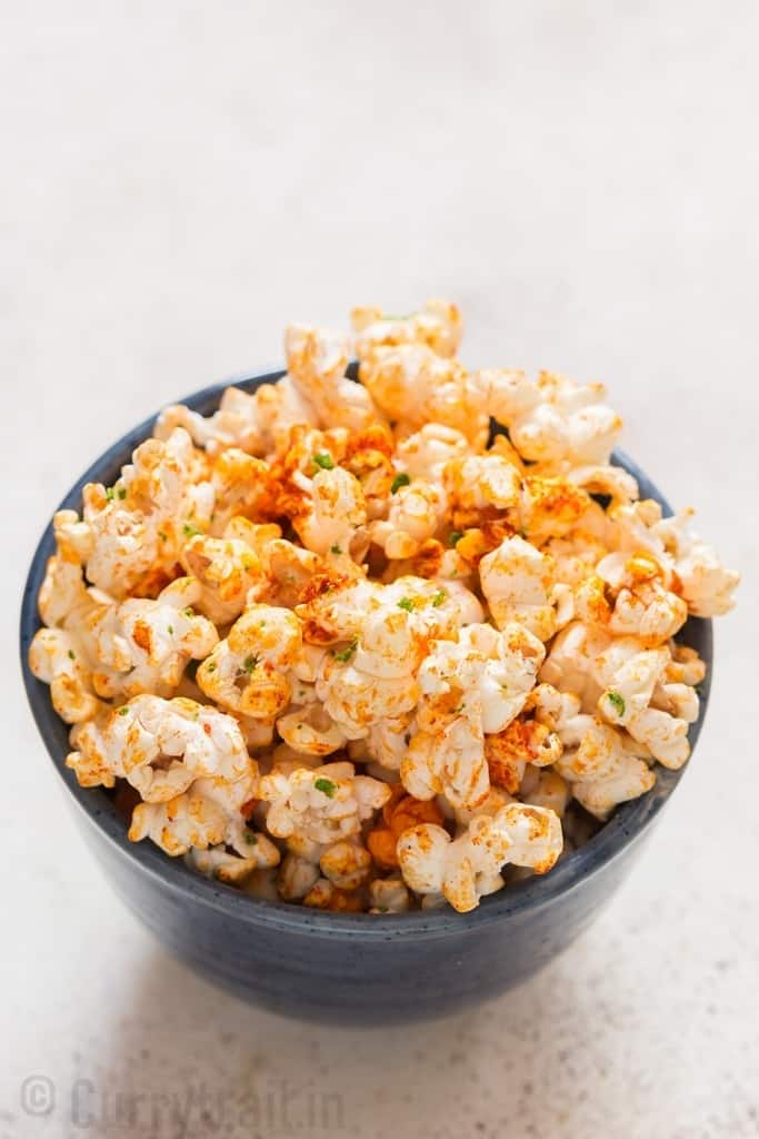 instant pot popcorn with chili lime flavor