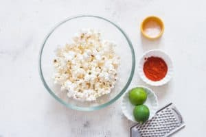 instant pot popcorn with chili lime flavor ingredients