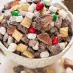 puppy chow in white bowl