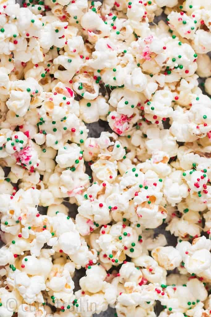 Santa munch Christmas popcorn snack mix is super crunch and addictive Christmas snack mix