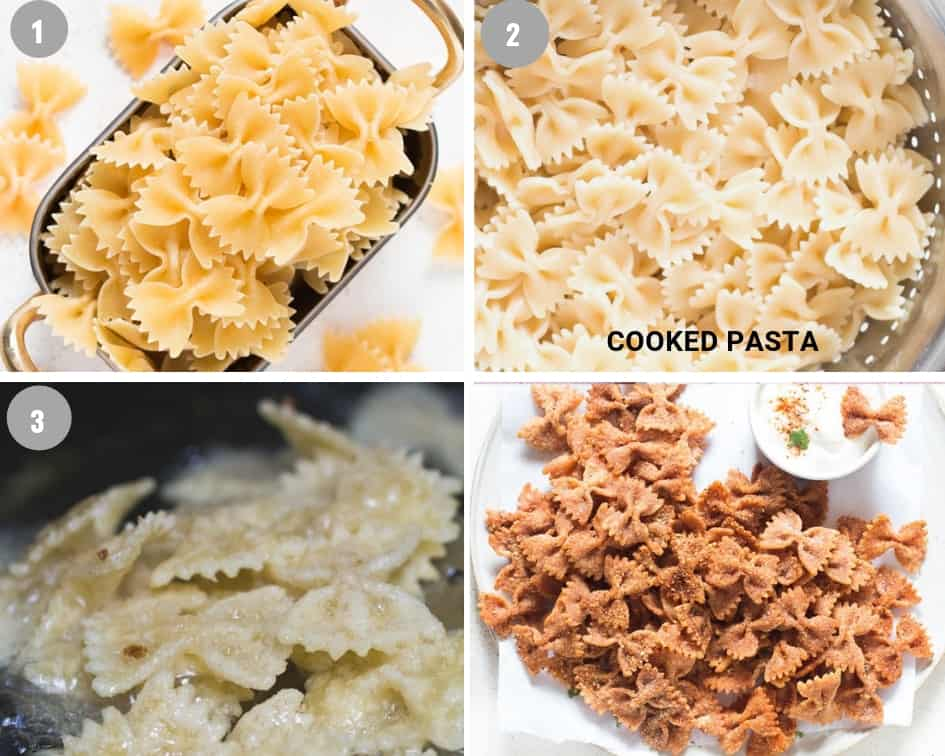 pasta chips collage photo