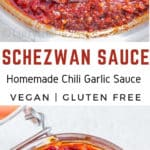 Homemade Spicy Schezwan Sauce is delicious Indo-Chinese Chili garlic sauce that can be used in stir fried rice or noodles