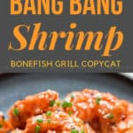 bang bang shrimp copycat recipe with text overlay