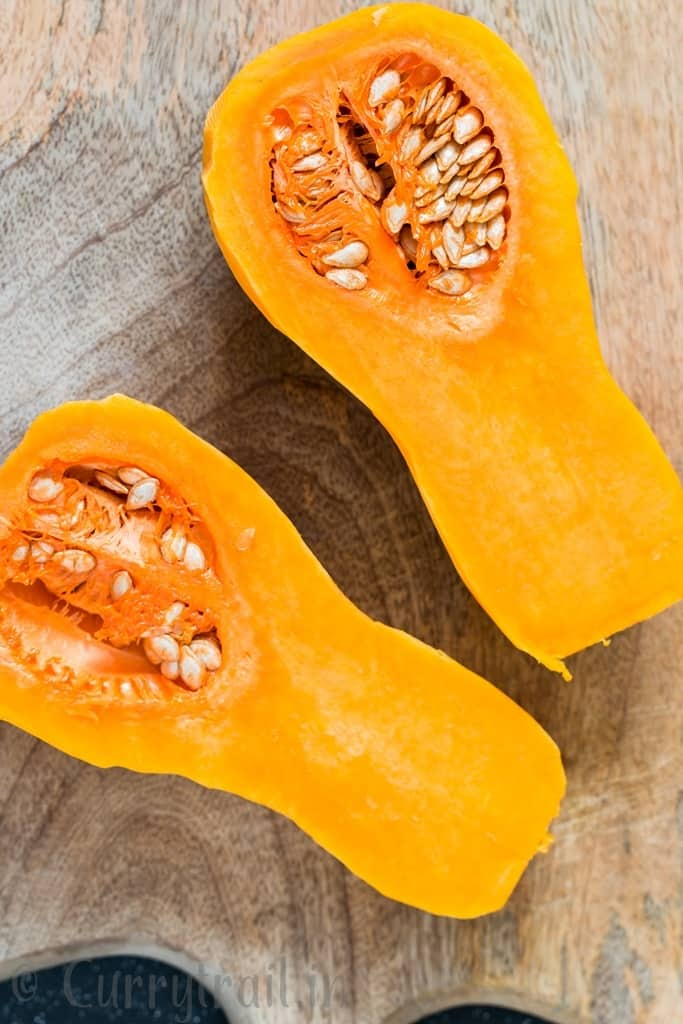 a complete guide on how to peel and cut butternut squash