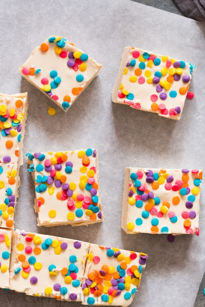 2 ingredient white chocolate fudge is perfect sweet treat that is rich and fudge-y