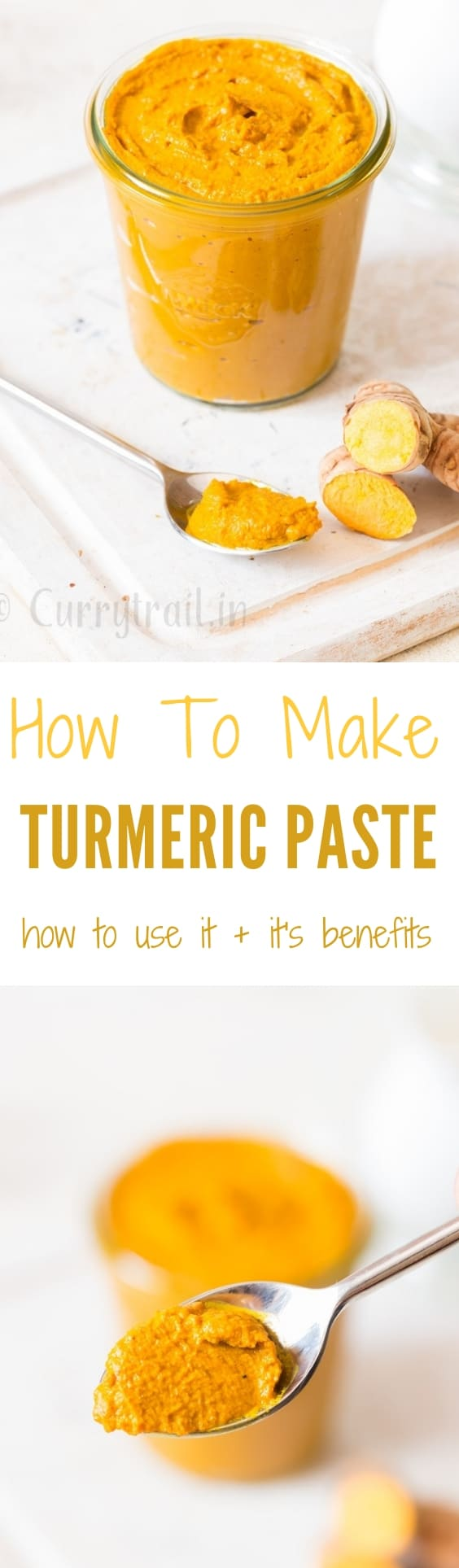 homemade turmeric paste in weck jars with text overlay