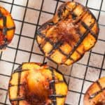 grilled peaches with brown sugar glaze