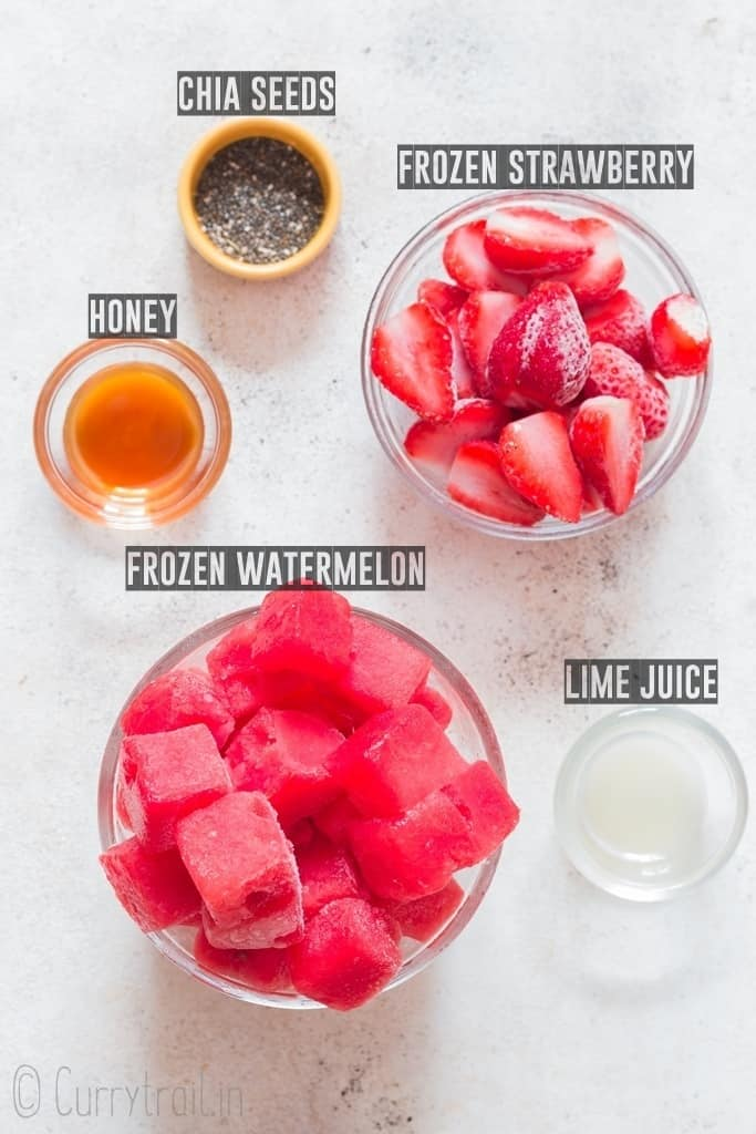 Ingredients for best thick watermelon smoothie