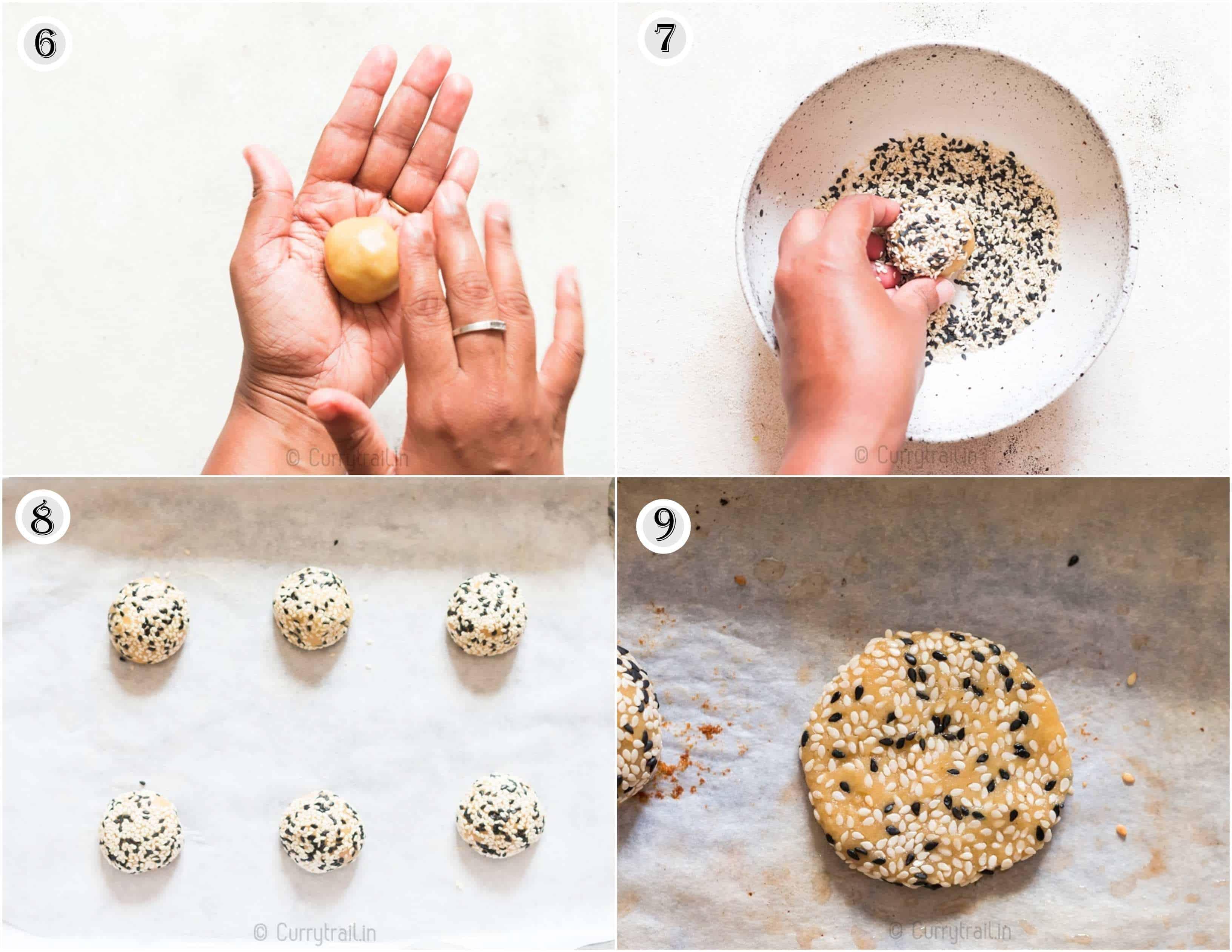 step by step tutorial of tahini cookies