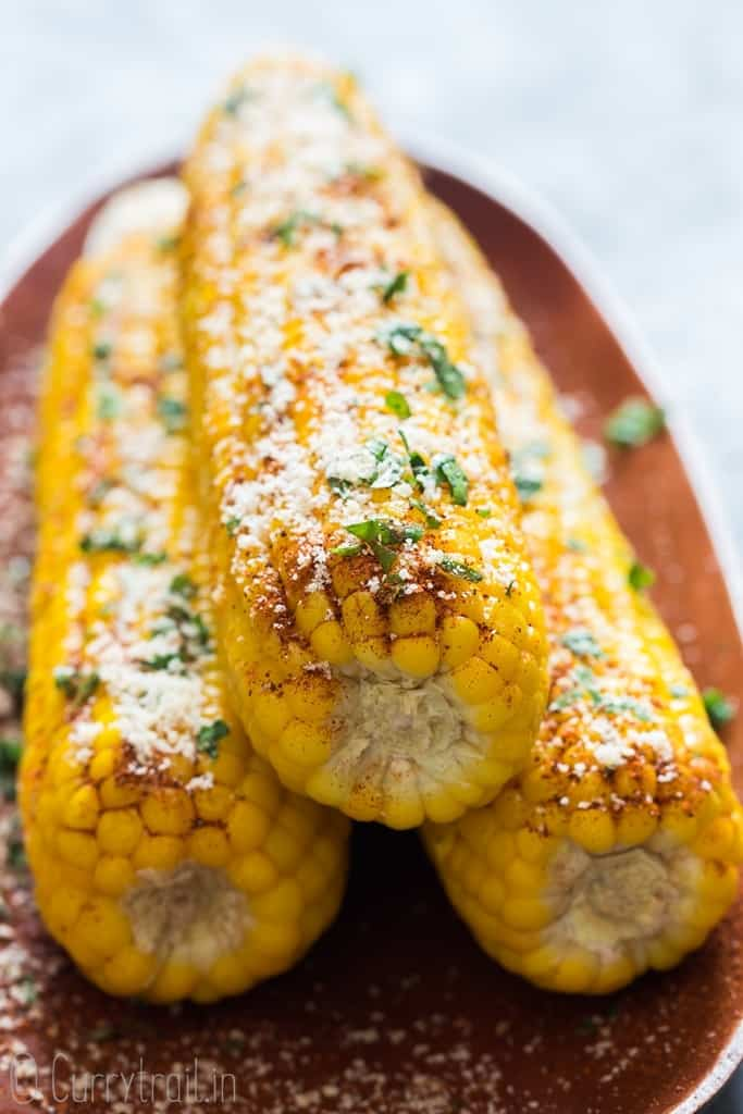 Butter chili lime Parmesan instant pot corn on cob