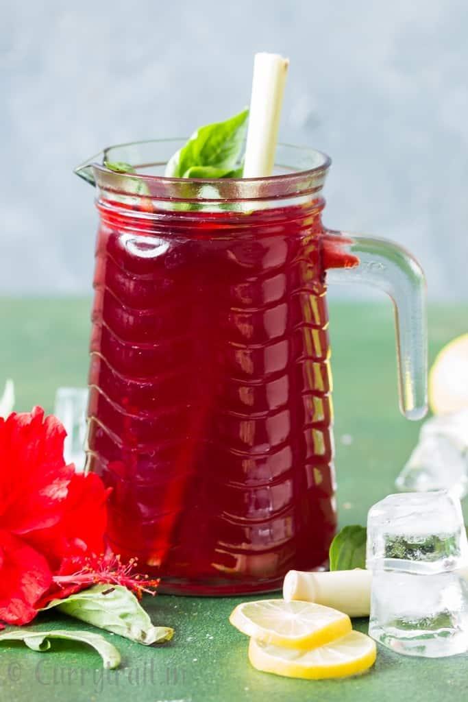 hibiscus tea pitcher