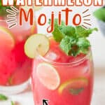 refreshing summer mojito using watermelon with text