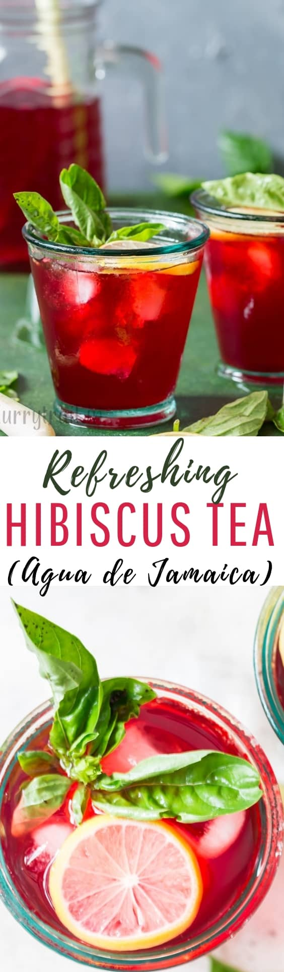 health benefits of hibiscus tea with text overlay