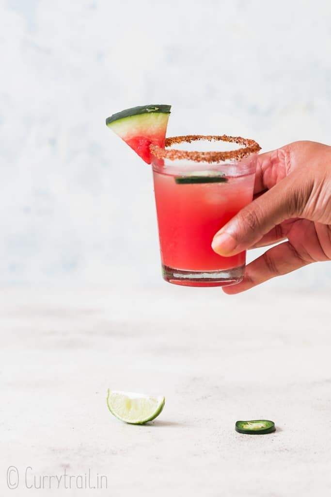 spicy watermelon margarita recipe for best summer drinks