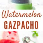 watermelon gazpacho soup with text overlay