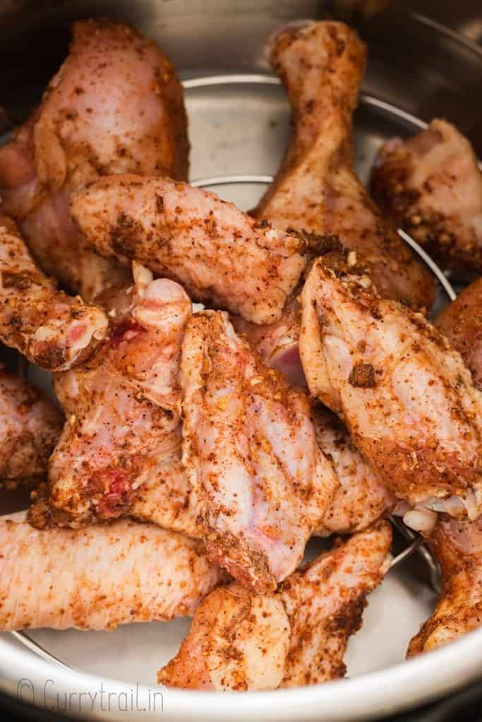 spice rubs chicken wings in instant pot
