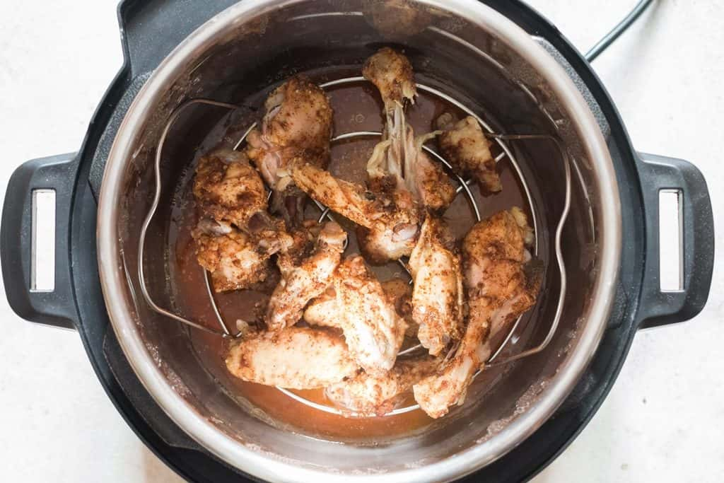 step 7 for instant pot chicken wings