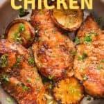 lemon pepper chicken cooked in skillet