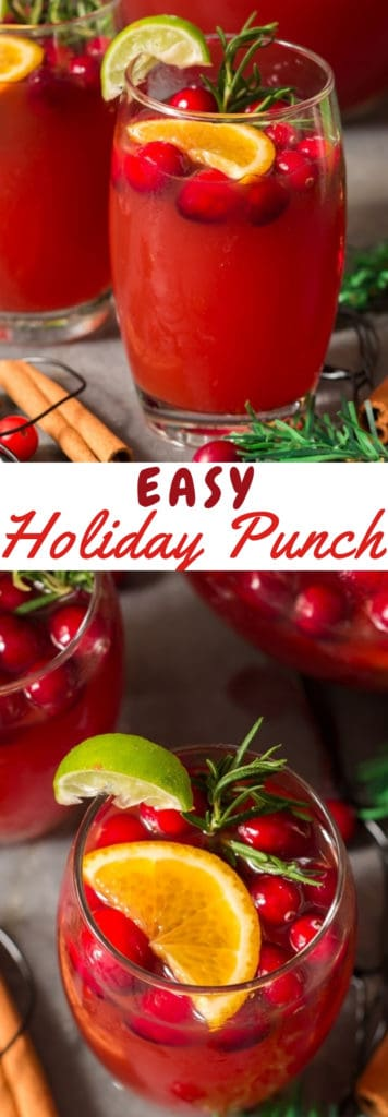 holiday punch recipe with text overlay