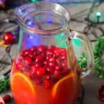 easy Christmas punch recipe in pitcher