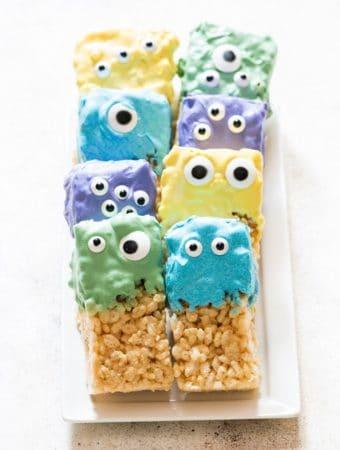monster eye rice krispie halloween treats