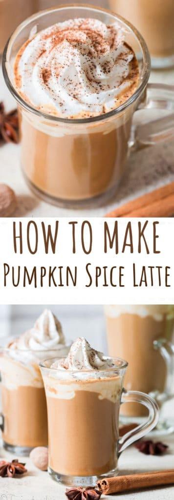 pumpkin spice latte with text overlay