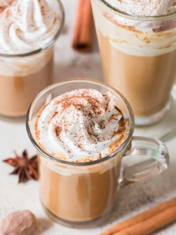 3 cups of Starbucks copycat pumpkin spice latte