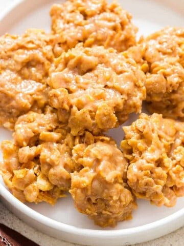 cornflakes cookies on white plate