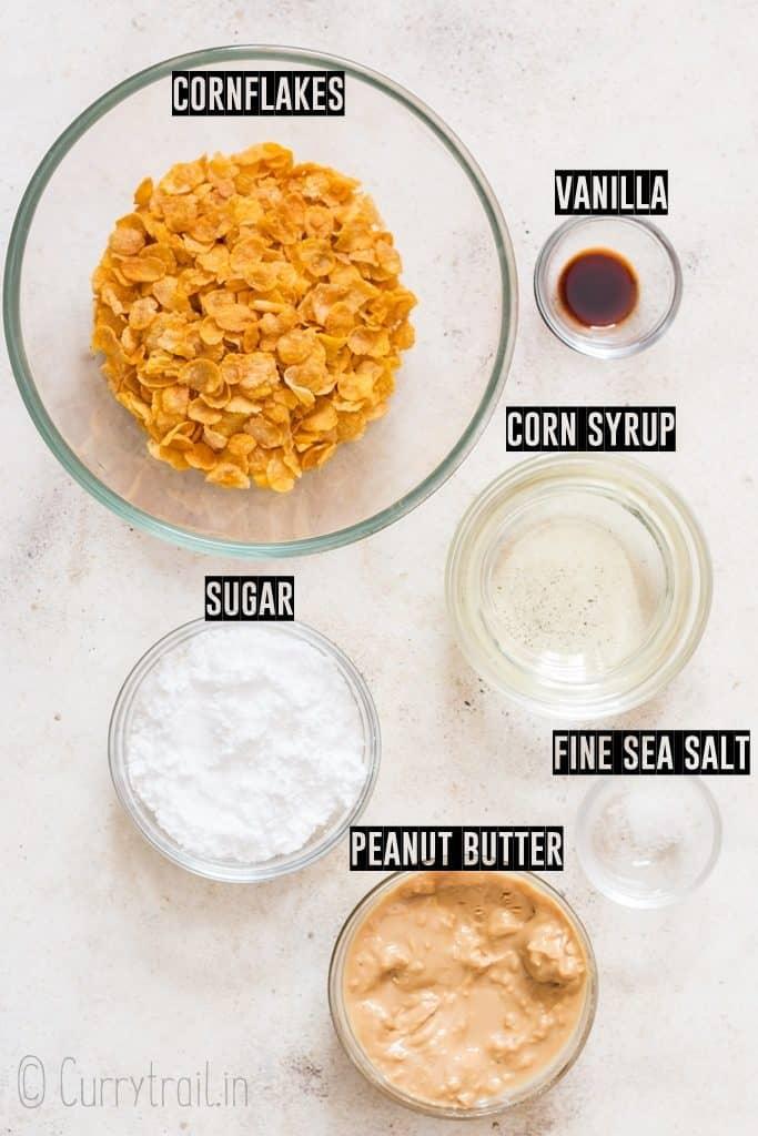 ingredients for cornflakes cookies