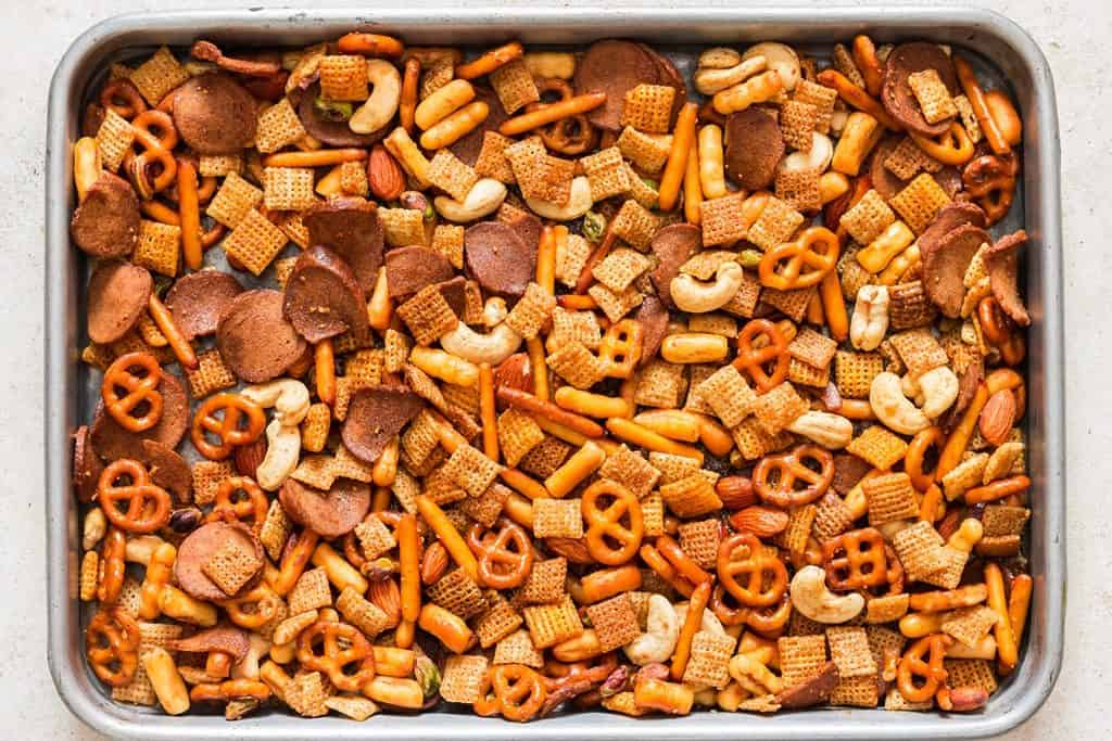 chex mix cooked in oven