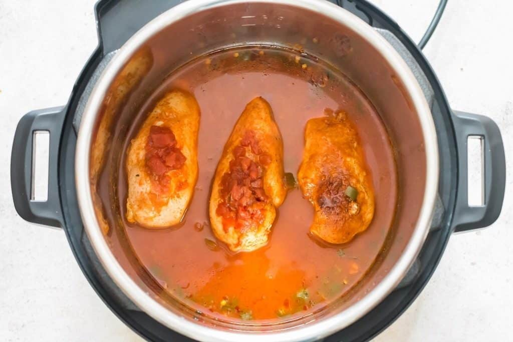 instant pot chicken breasts cooked with Mexican seasoning