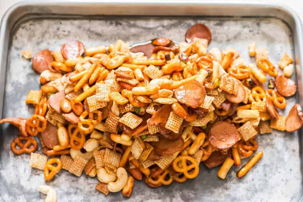 before baking sweet and spicy chex mix recipe